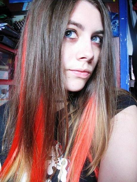 Bleach Blonde With Red Underneath