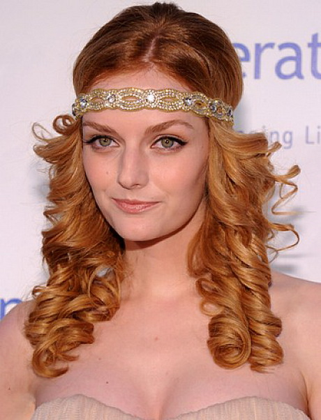 Flapper hairstyles for long hair