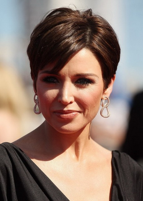 Brunette Bob Hairstyle with Bangs
