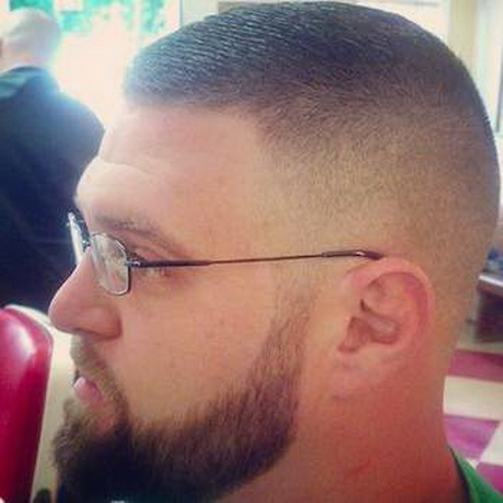 A High Fade Taper Haircut For Military Men