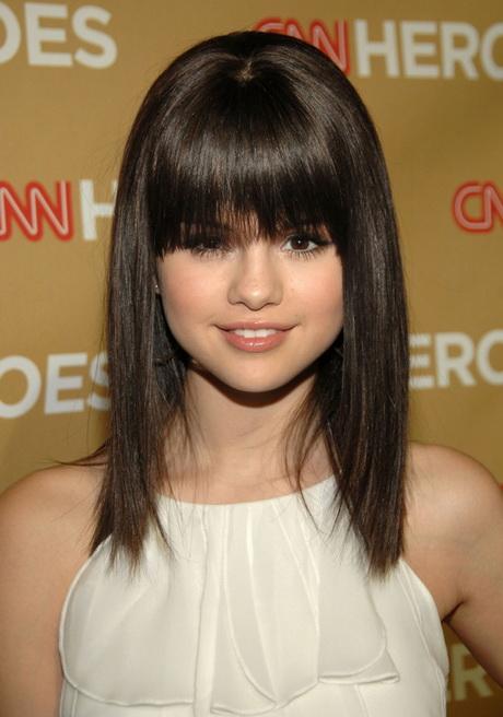 Medium Haircuts With Bangs 2015