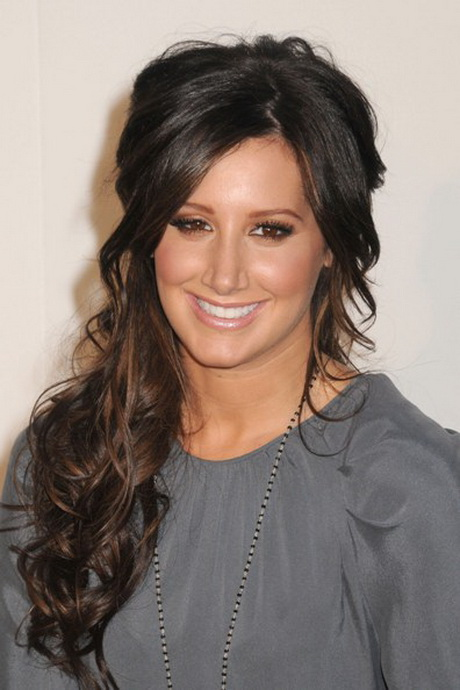 hairstyles hair ashley tisdale half hairstyle down night spring dark romantic celebrity styles hellcats longhairstyleshowto cosplay much ashanti beauty natural