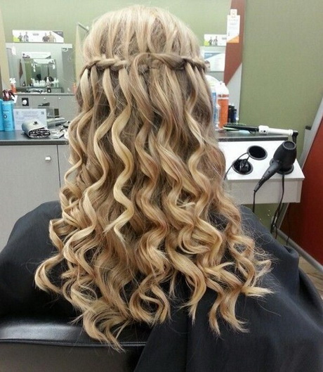 Hair Ideas Styles Long Prom Hairstyles Curls Braids Waterfall Wigs New