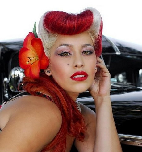 Rockabilly Hairstyles For Long Hair. Pin Up Girl Outfit Ideas On Pinterest  | Rockabilly Girls U2026