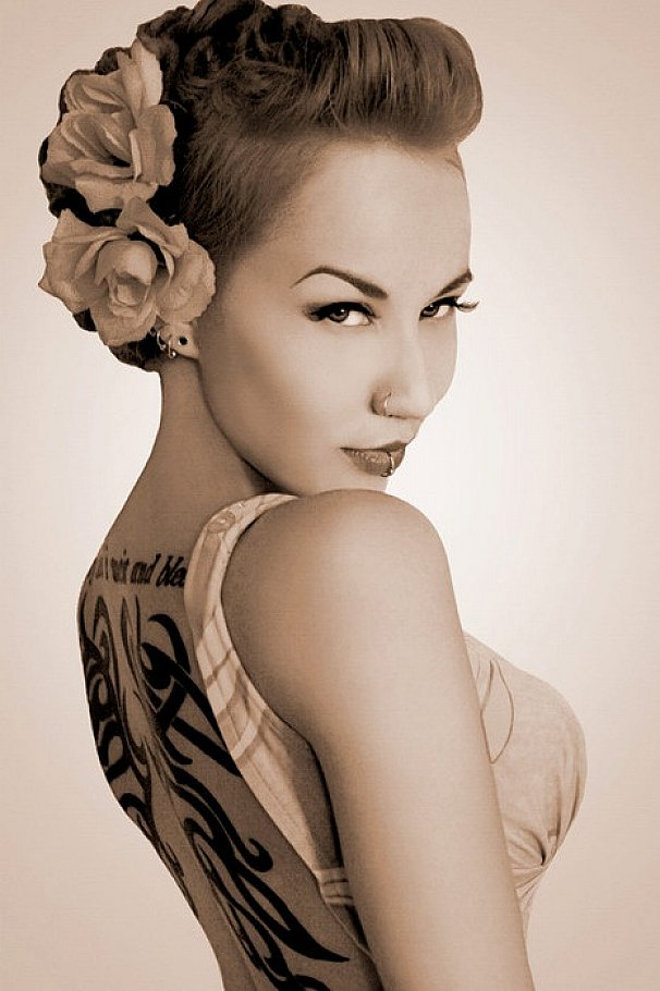 Rockabilly Pin Up Hairstyles For Long Hair The Blouse