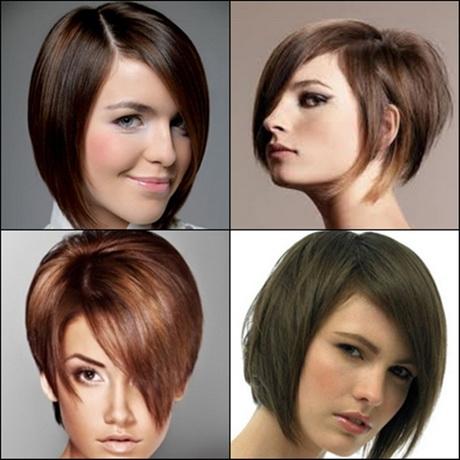 Short angled haircuts