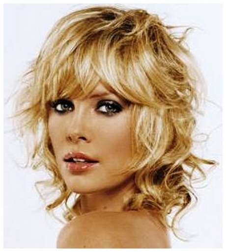 Thin curly hairstyles