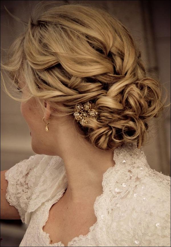 Updos 50 elegant wedding updos for long hair and short hair junglespirit Images