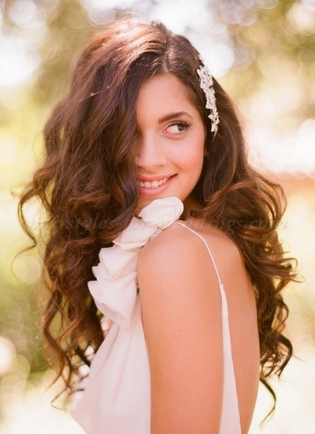 Wedding down hairstyles for long hair