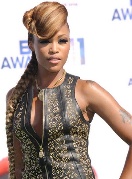 Eve Long Funky Edgy Blonde Hairstyle With Bangs And Braids Twists