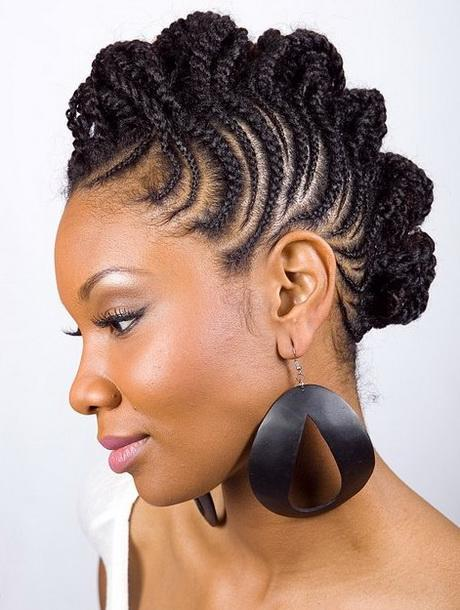 Mohawk braided hairstyles for black women