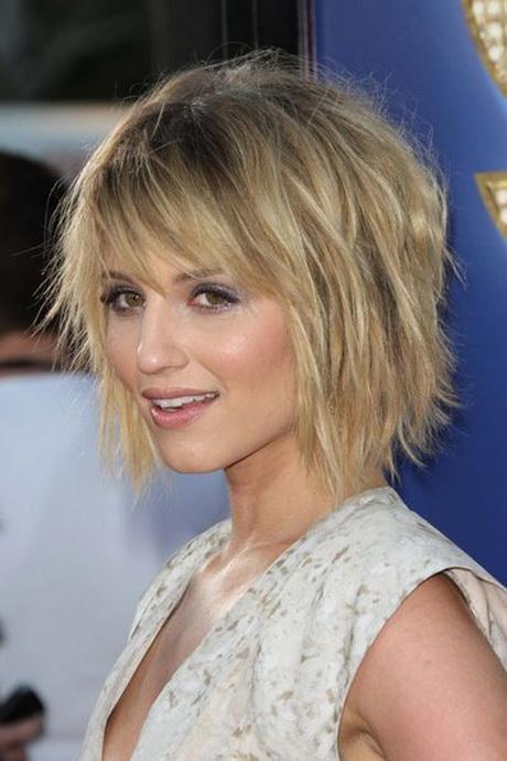 Short Layered Haircut With Bangs