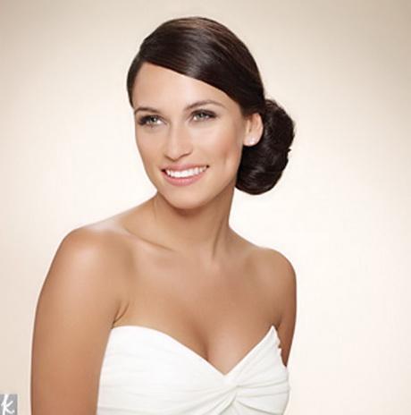 Side bun wedding hair