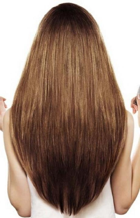 how to cut v shape hair