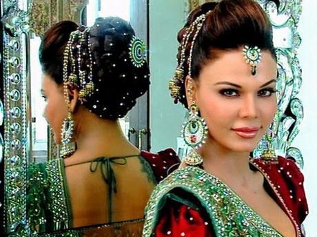 Bridal hairstyle indian wedding
