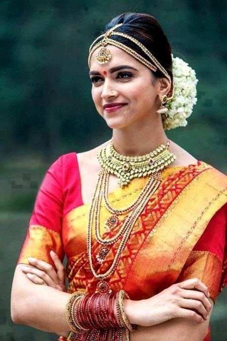 Bridal Wedding Hairstyle for Round Face. hindu bridal photo