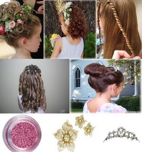 Kids wedding hair