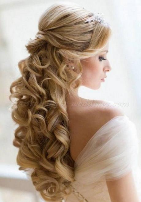 Wedding hair half up half down with veil brides side part half updo long curls with under veil wedding hair wedding ideas junglespirit Image collections
