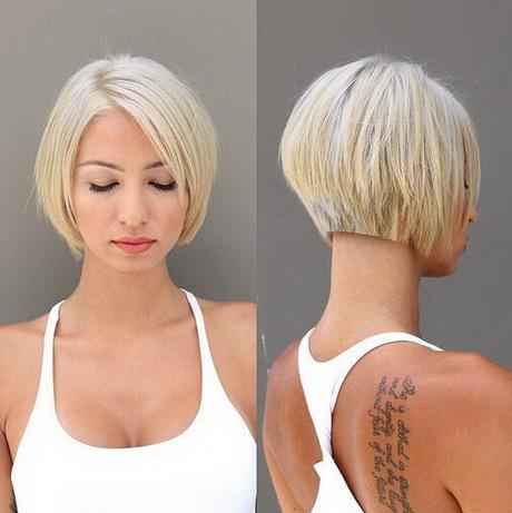 Charming Neck Length Bob Cuts Short Hairstyles For 2017 Light Blonde Minimalist Make Up Tanned Skin