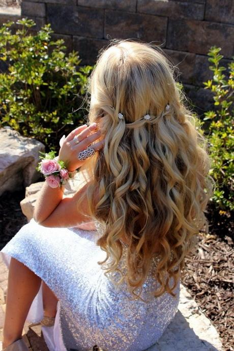 Prom Hairstyles Down 2017 : Prom hair down hairstyles with braids and curls on