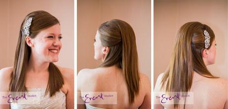 Bridal Hairstyles For Straight Hair - Bridesmaid hairstyle straight hair