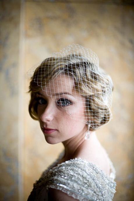 Wedding hair birdcage veil
