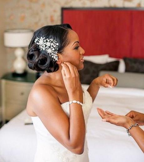 Wedding hair for black women