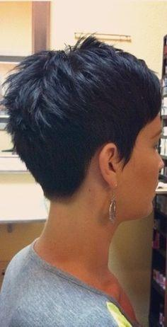 back view of short pixie hairstyles. Black Bedroom Furniture Sets. Home Design Ideas