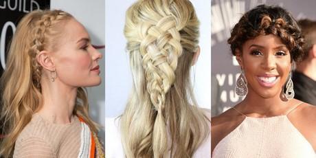 Different hairstyles in braids