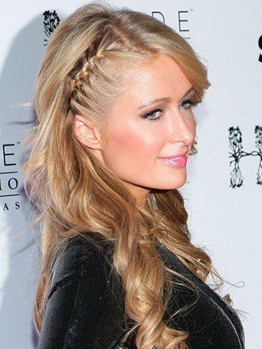 Anne Hathawayu0027s Cute Clip | My Hair Loose Curls And Braided Hair. Paris  Hilton Side Braided Hairstyle NYE