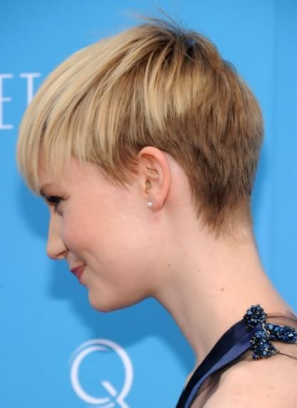Short Pixie Haircut For Summer Back View Of Cut