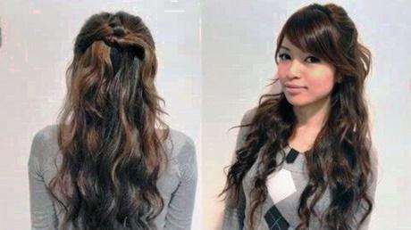 Fast hairdos for long hair