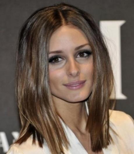 One Length Medium Hairstyles