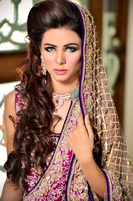 Latest Pakistani Bridal Wedding Hairstyles 2016 2017 | StylesGap.com
