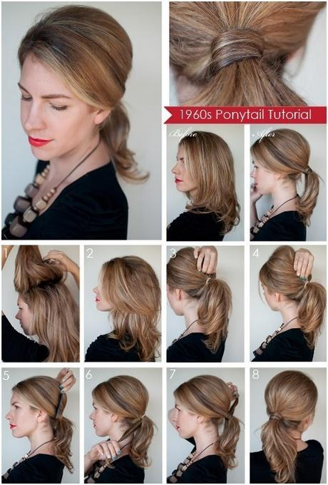Easy and simple hairstyles for medium length hair long hair updos easy to do yourself diy ponytail hairstyles for medium long hair solutioingenieria Image collections