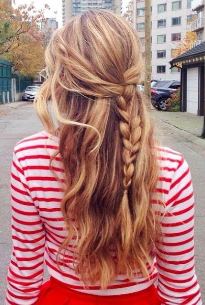 Double Side Braid: Double Side Hairstyles. French Braid With Long Hair: 8 Simple  Daily ...