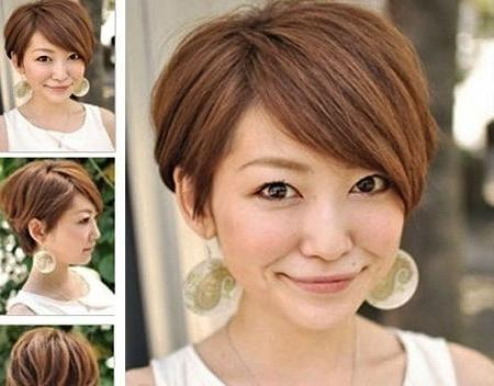 Short Hairstyle 2018 For Round Face