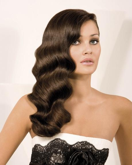 1920s Hairstyles For Long Hair Designs Waterfall Wavy