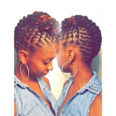 short natural hair styles 2 hairstyles for dreads 1116 | 2 hairstyles for short dreads 02 11
