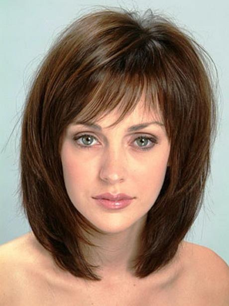 Hairstyles round face thick hair
