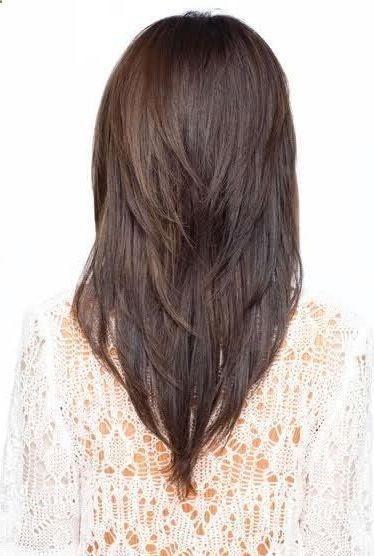 v layered hairstyles