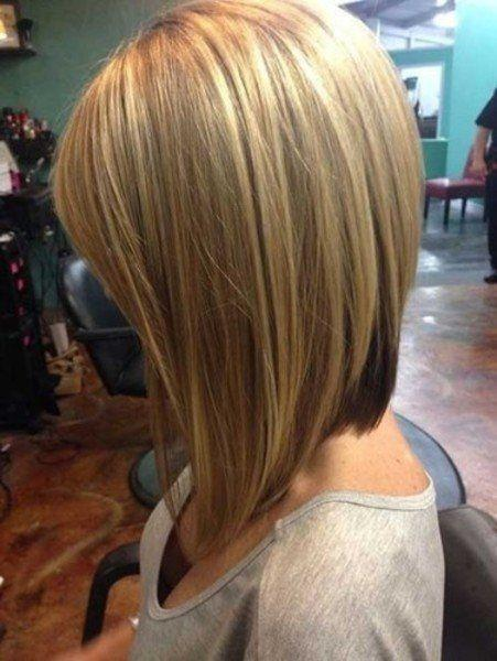 Hairstyles Short In Back Long In Front - Bob hairstyle pictures front and back