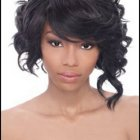 Asymmetrical black hairstyles