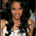 Black hairstyle with weave
