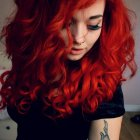 Curly scene hairstyles for girls