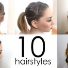 Everyday hairstyle for long hair