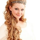 Hairstyles for long hair for a wedding