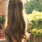 Half up half down hairstyles long hair