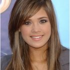 Long layered haircuts with side bangs
