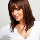 Medium haircut styles with bangs
